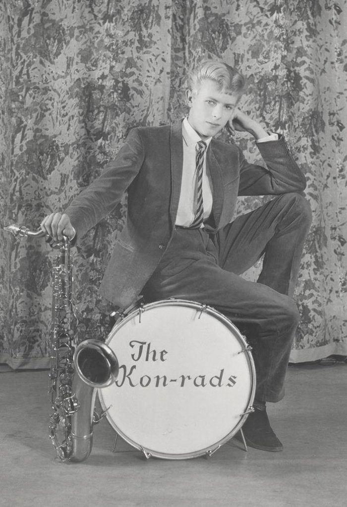Publicity photograph for The Kon-rads, 1966. (Photo: Courtesy of The David Bowie Archive, Image © Victoria and Albert Museum)